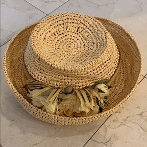 New summer straw Hat with flowers